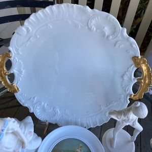 LIMOGES FRENCH Classic White Plate Gold Handles